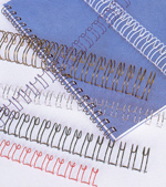 Wire Binding is an excellent permanent binding choice that creates true lie-flat documents, opened or closed. Wire bindings are available in two styles: Double Loop Wire and Spiral-O®. Both are available in standard colors as well as custom colors.